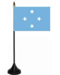 Micronesia Desk / Table Flag with plastic stand and base.